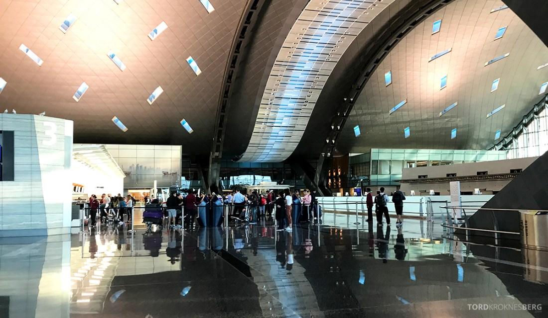 Qatar Airways Economy Class Doha Oslo terminal