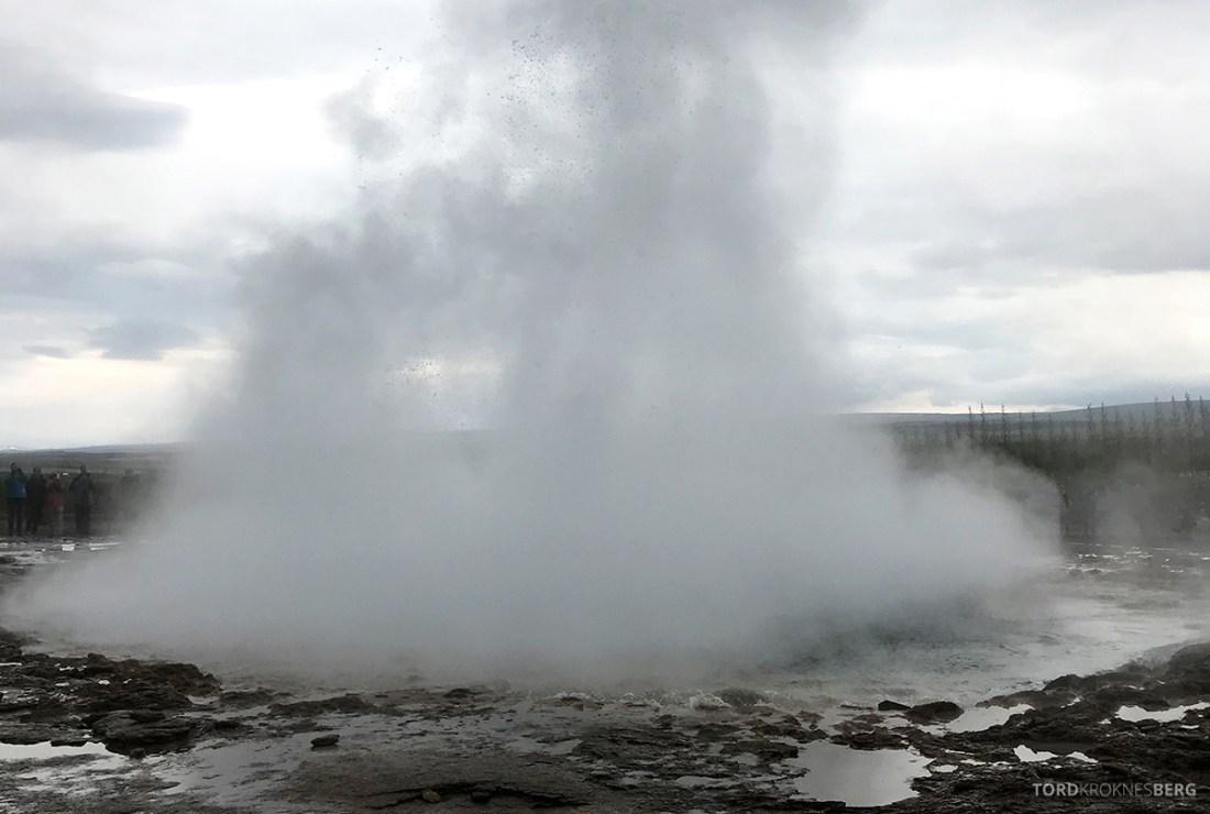 Golden Circle Tour Island geysir eksplosjon