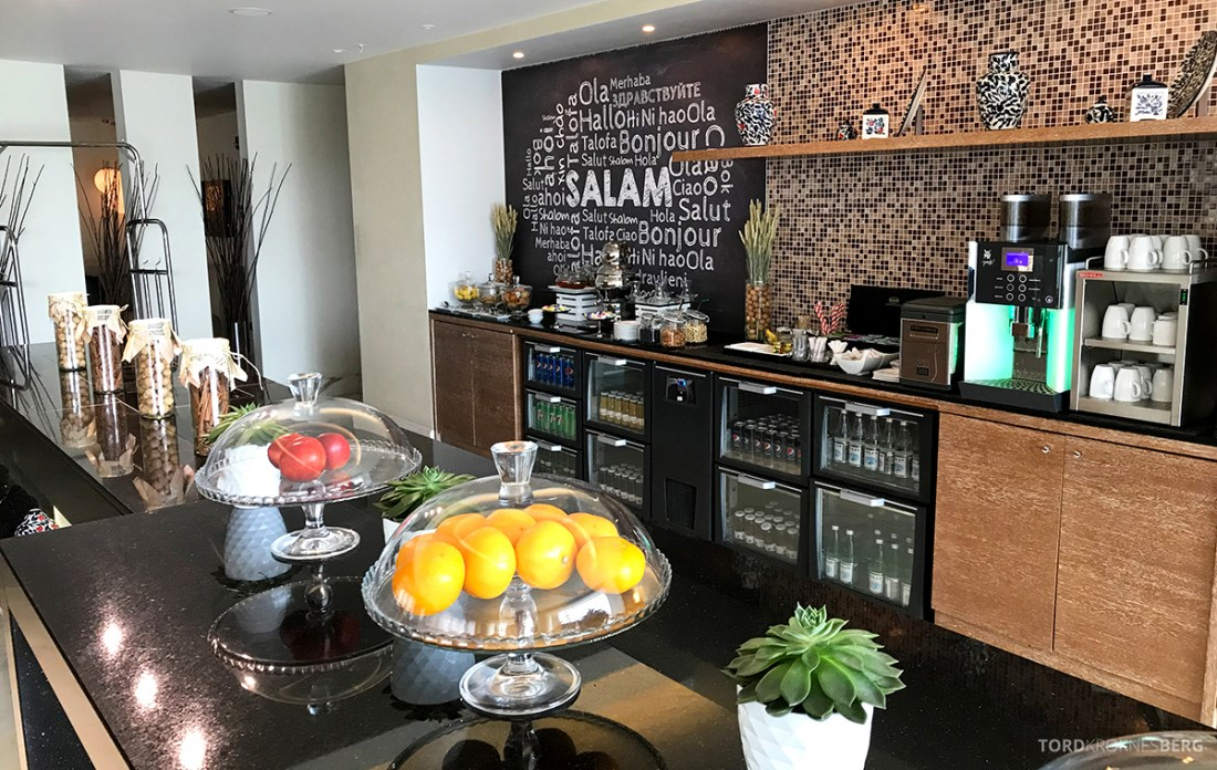 JW Marriott Absheron Hotel Baku Executive Lounge buffetområdet
