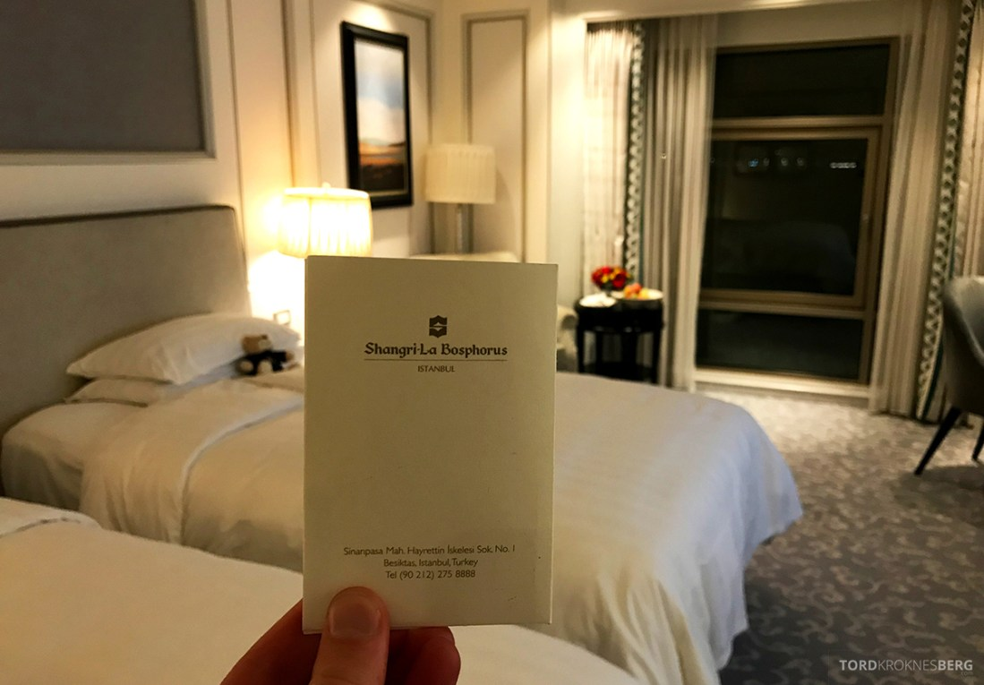 Shangri-La Bosphorus Istanbul Hotel nøkkelkort