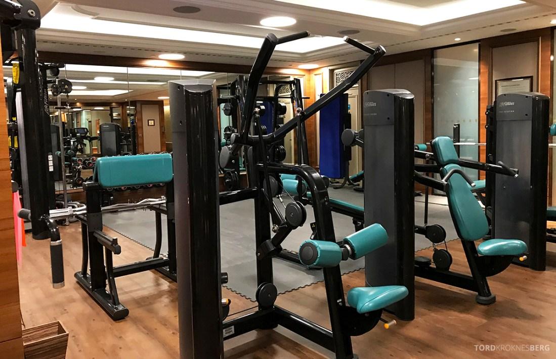 Shangri-La Bosphorus Istanbul Hotel gym utstyr