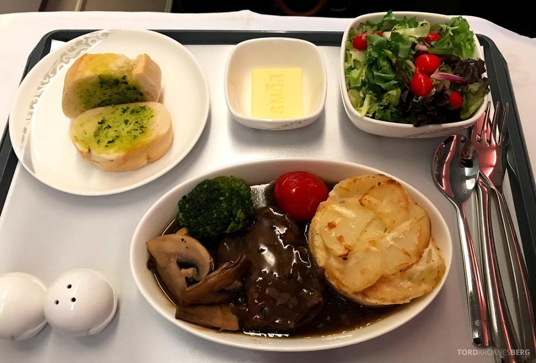 Air China Business Class Stockholm Beijing hovedrett