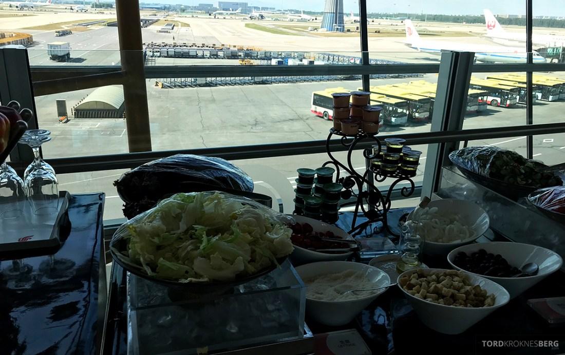 Air China Business Class Lounge Beijing grønnsaker