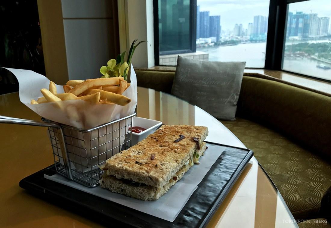 Renaissance Riverside Hotel Saigon Ho Chi Minh City room service sandwich