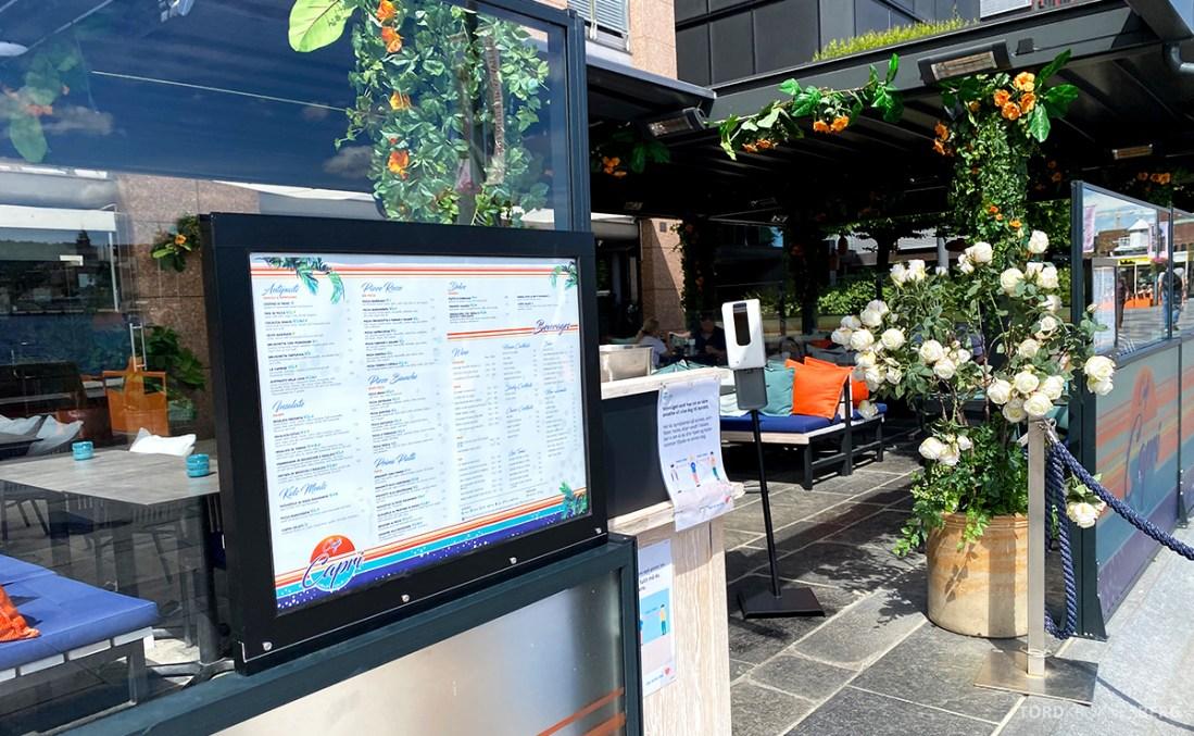 Café Capri Aker Brygge Oslo utenfor