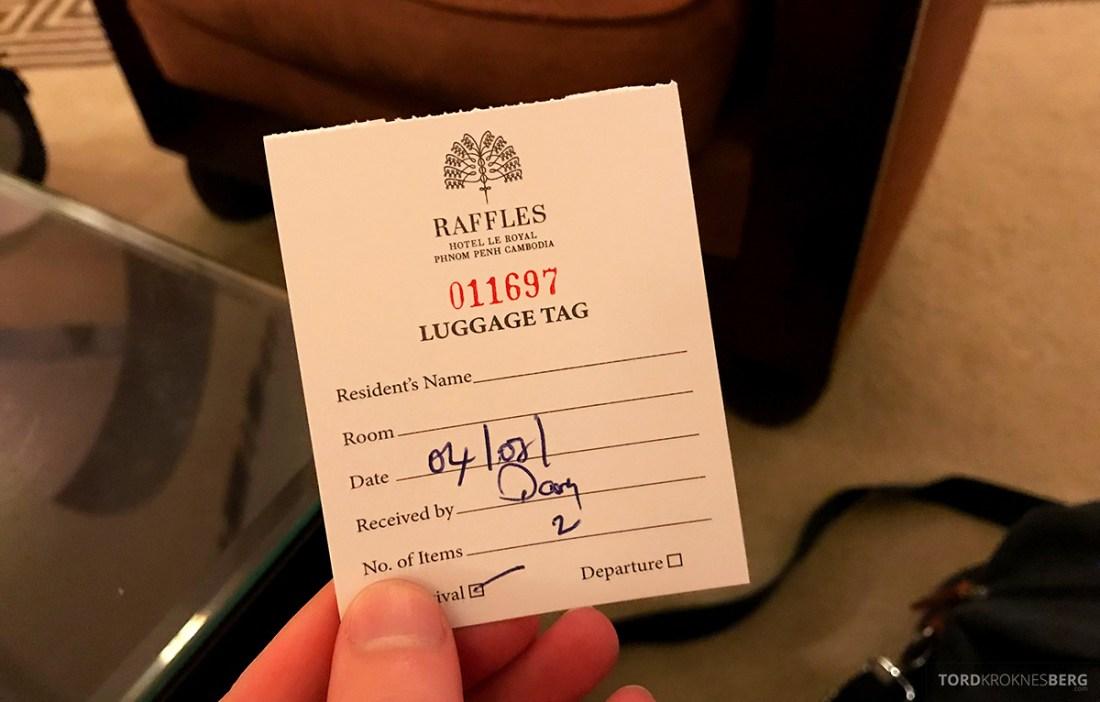Raffles Hotel Le Royal Phnom Penh bagasjelapp
