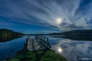 Fullmåne over Landåsvatnet