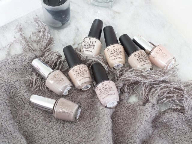 My Favorite OPI Neutrals - Nude Nails