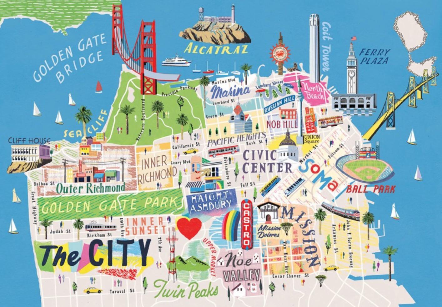 Tour Of California Map