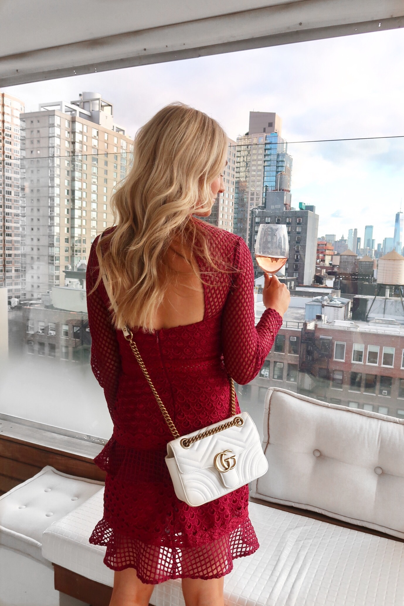 New York fashion wee red asos dress