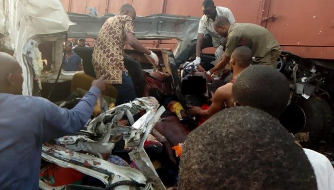 ore2 - Many Killed As Truck Crushed Commercial Bus Along Lagos-benin Highway (pics)