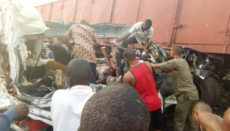 ore3 Many Killed As Truck Crushed Commercial Bus Along Lagos-benin Highway (pics)