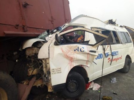 ore4 Many Killed As Truck Crushed Commercial Bus Along Lagos-benin Highway (pics)