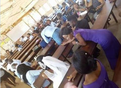 %name Check Out The Photos Of A Nigerian That Bride Storms University in Her Wedding Dress to Write Exams