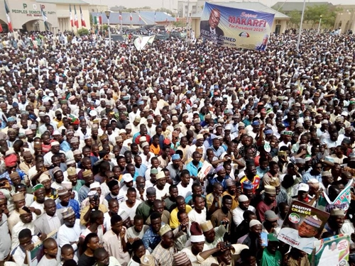 Huge Turnout & Massive Crowd At PDP Mega Rally In Buhari's State, Katsina For Atiku (Photos)