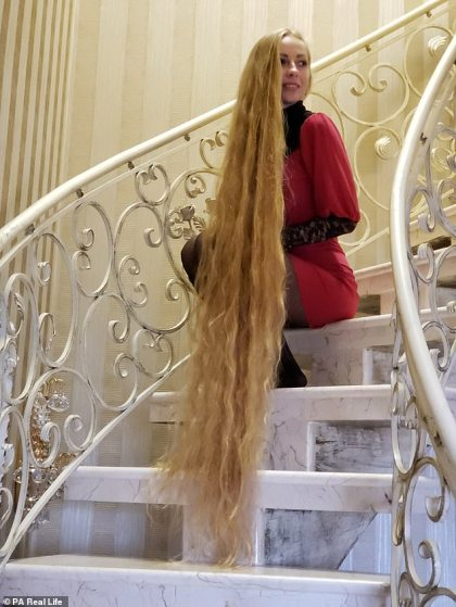 Meet 33-yr-old Woman Who Has Not Had A Haircut In 28 Years (Photos)