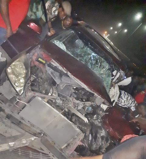 Pretty Lady Gives Thanks To God After Surviving Car Crash With