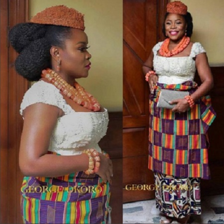 {filename}-Beautiful Photos From Omawumi's Traditional Marriage Ceremony Holding In Warri