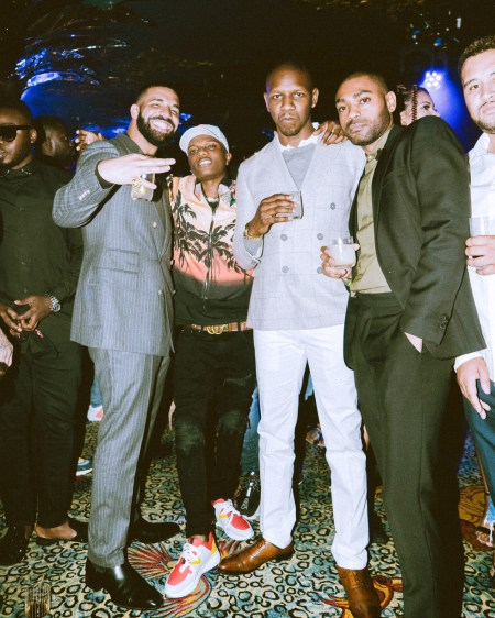 Wizkid Parties With Drake In London For 'Scorpion' Album Celebration (Photos)