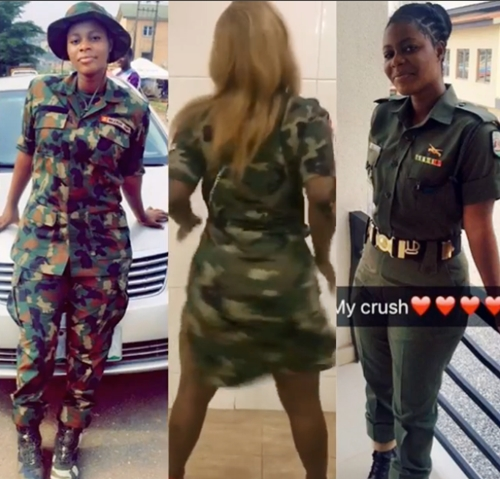 army girl birthday 1 - These Stylish Birthday Pics Of Endowed Nigerian Female Soldier Has Got Many Talking (Twerk Video