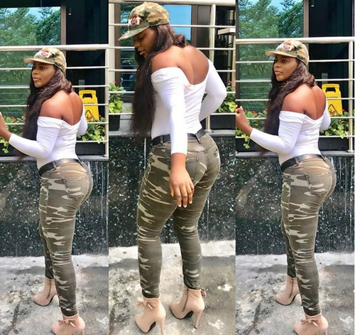 army girl birthday 5 - These Stylish Birthday Pics Of Endowed Nigerian Female Soldier Has Got Many Talking (Twerk Video