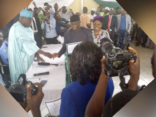 Ekiti Governor-elect, Kayode Fayemi Receives Certificate Of Return From INEC (Photos)
