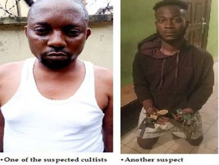 suspected cultists have been nabbed by men of the Nigeria Police Force right inside a hotel in Lagos state.