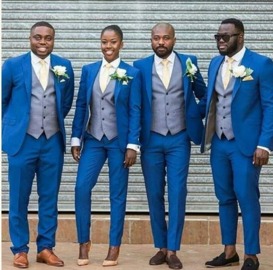 Groom1 - This Beautiful Lady Confidently Slay Among Groomsmen Squad (Photo)