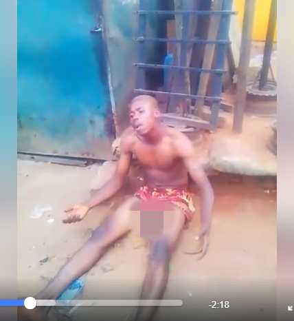 Yahoo Boy 'Runs Mad', Allegedly Confesses To Using His Own Dad For Ritual In Benin