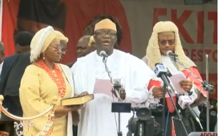 , Kayode Fayemi Sworn-in As New Governor Of Ekiti State (Photos), No. 1 Information Arena