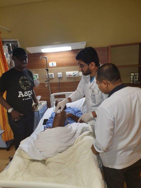 Deji Adeyanju in hospital