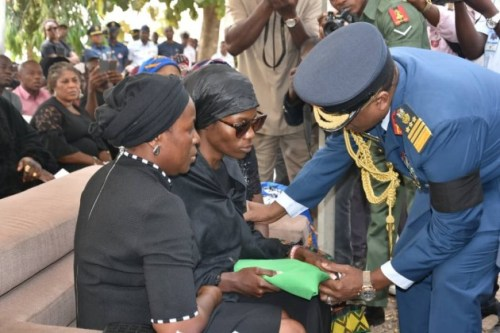 Photos From The Funeral Of 5 Nigeria Air Force Personnel Killed In Borno Helicopter Crash 1