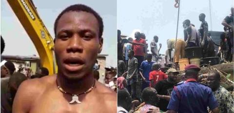 Owner Of Lagos Collapsed Building Rescued (Video) 1