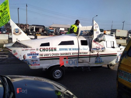 Unbelievable! Lord's Chosen Members Noticed Utilizing Custom-made Airplane-Automobile To Evangelize In Lagos (Photograph+Video) 1