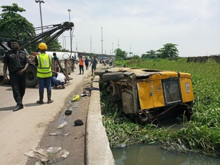 Lagos canal accident