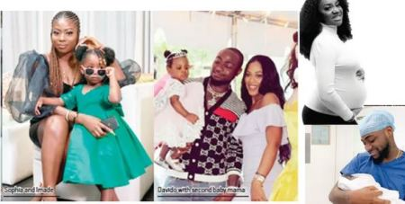 Davido and his baby mamas