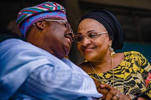 Abiola Ajimobi And Wife, Florence