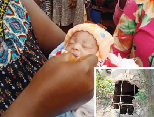 Photo Of Abandoned Newborn Baby Who Was Rescued After Being Dumped Inside Soakaway In Oyo