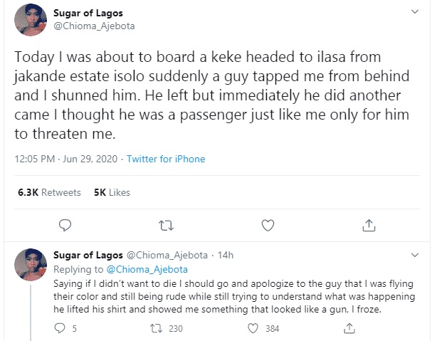 ajebota1 - Nigerian Girl Recounts How She Escaped Being Kidnapped In Lagos