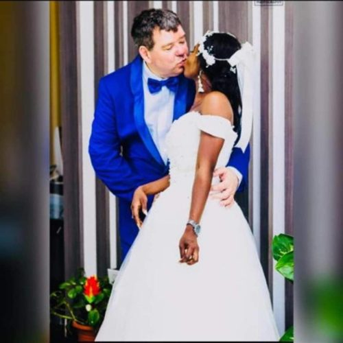 lovewed2 - Wow! Lovely African Bride Marries Her Oyinbo Lover (Pictures)