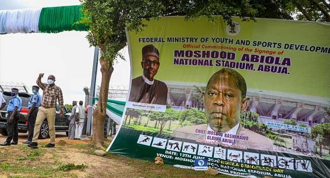 FG Commissions MKO Abiola Stadium In Abuja. 1
