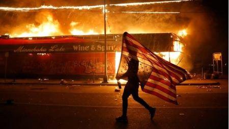 #GeorgeFloyd: Rioters Burn Down Police Building As Protests Spread In America