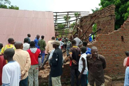 Oh No! Church Collapses On Worshipers During Evening Service, Leaves 2 Dead (Photos)