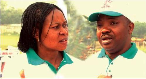 Late Odumakin and wife