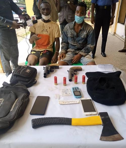 man  Police Arrest Two Suspected Cultists With Weapons In Ibadan 1a