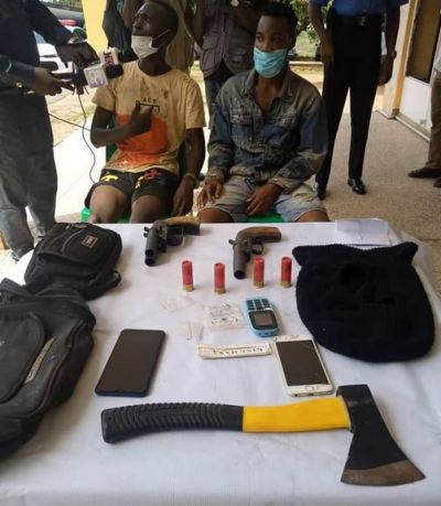 men  Police Arrest Two Suspected Cultists With Weapons In Ibadan 1b