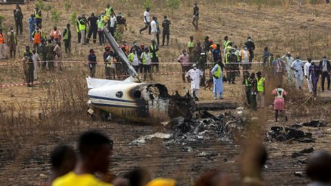 The plane crashed in Abuja