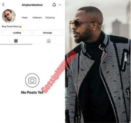 Blogger, Tunde Ednut'S Instagram Page Banned For The Third Time