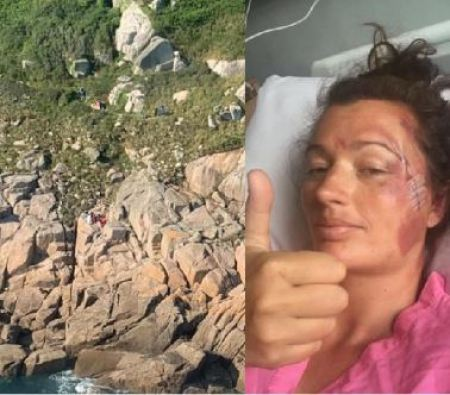 Woman survives after fall from 60ft