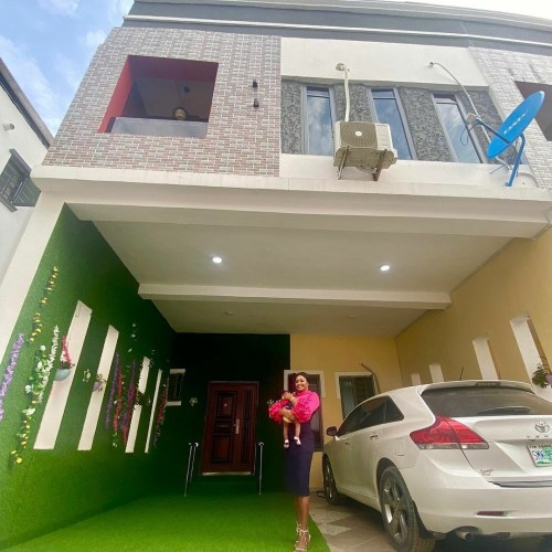 Etinosa shows off her new mansion